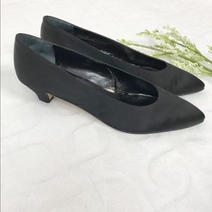 J. CREW Black Pointed Toe Heel Pumps Size 10